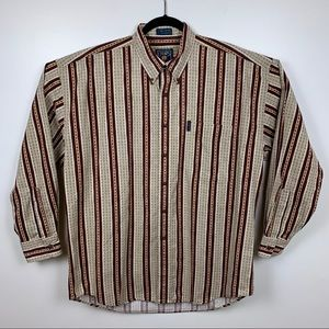 Vtg Chaps Ralph Lauren Striped Button Down